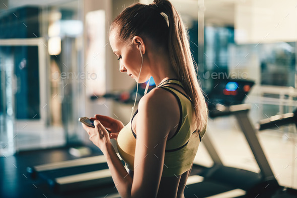 Fitness with music - Stock Photo - Images