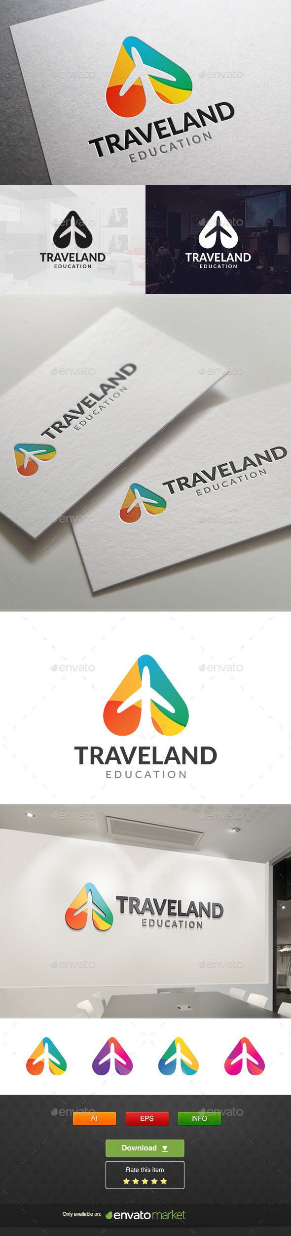 Travel Land - Vector Abstract