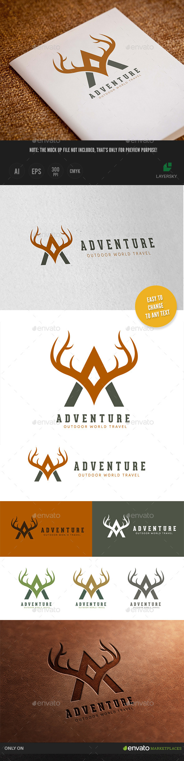 Outdoor Adventures Logo - Letters Logo Templates