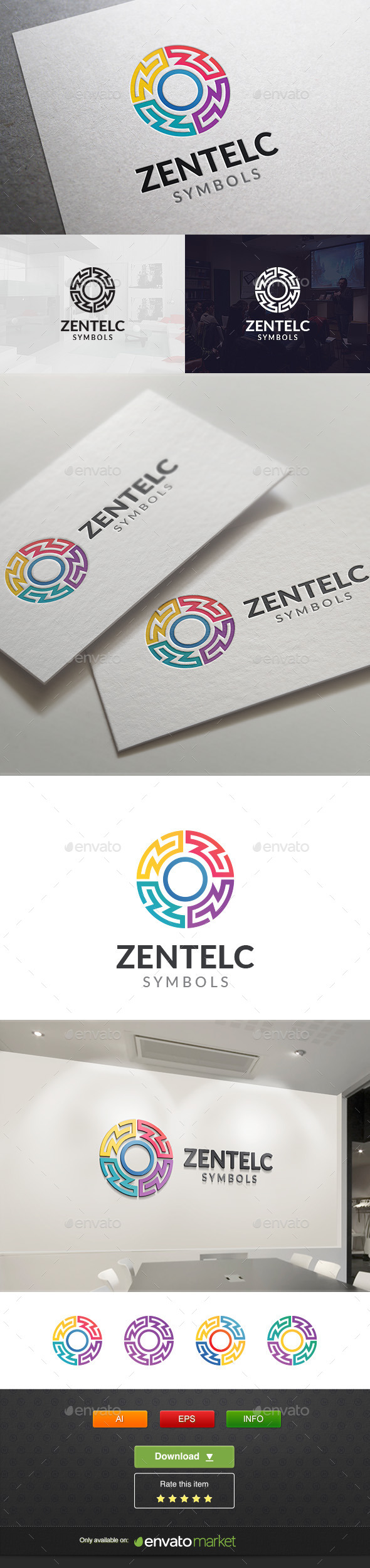 Abstract Light - Symbols Logo Templates