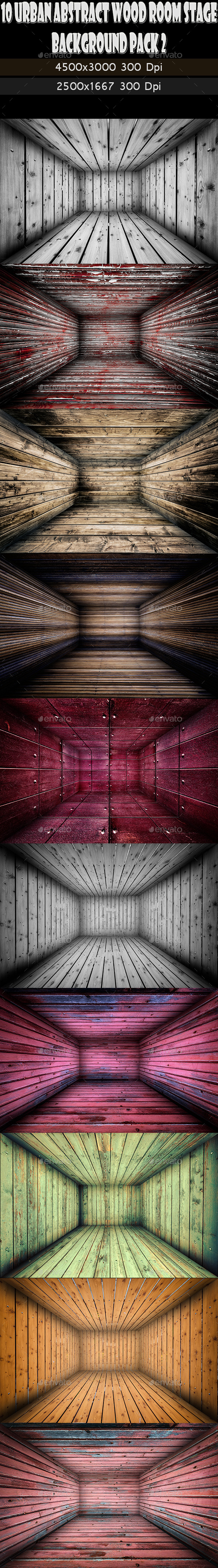 10 Abstract Wooden Interior Walls Stage 2 - Urban Backgrounds