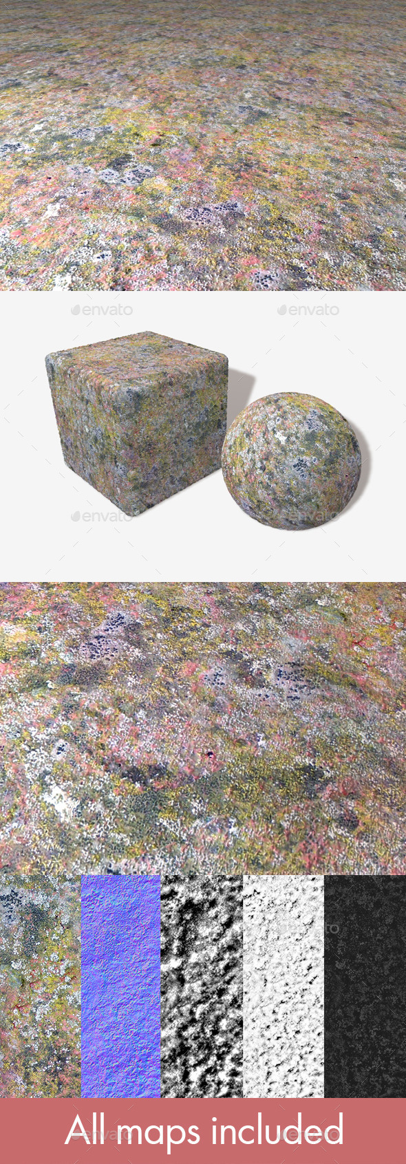 Detailed Moss Mould Seamless Texture - 3DOcean Item for Sale