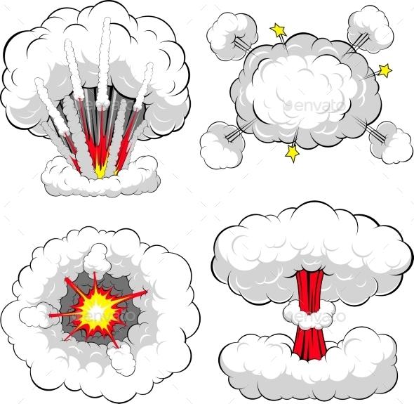 Comic Explosion - Backgrounds Decorative