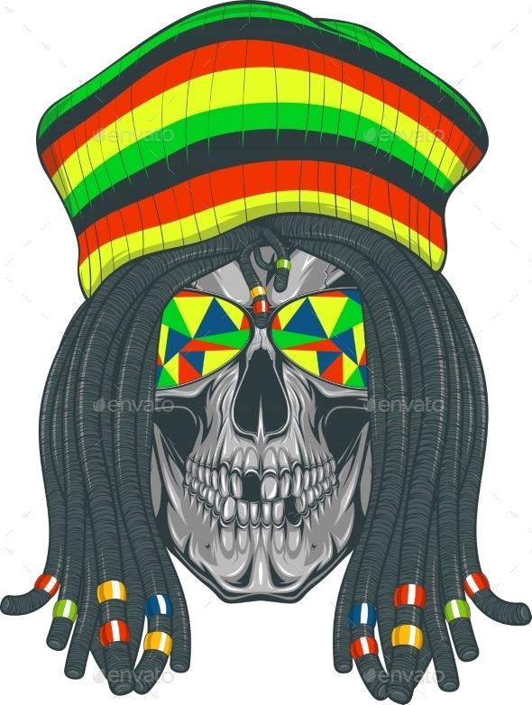 Skull Rastafarian - Miscellaneous Characters