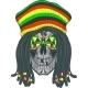 Skull Rastafarian - GraphicRiver Item for Sale