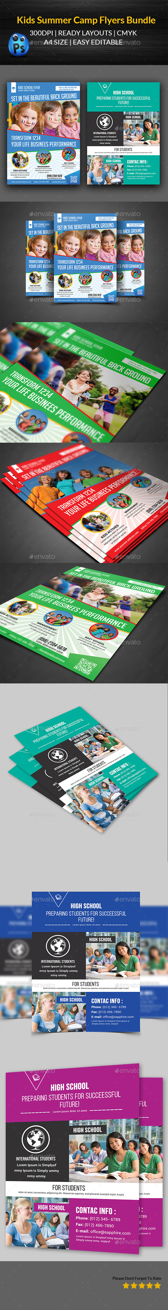 Kids Summer Flyers Bundle Templates - Corporate Flyers