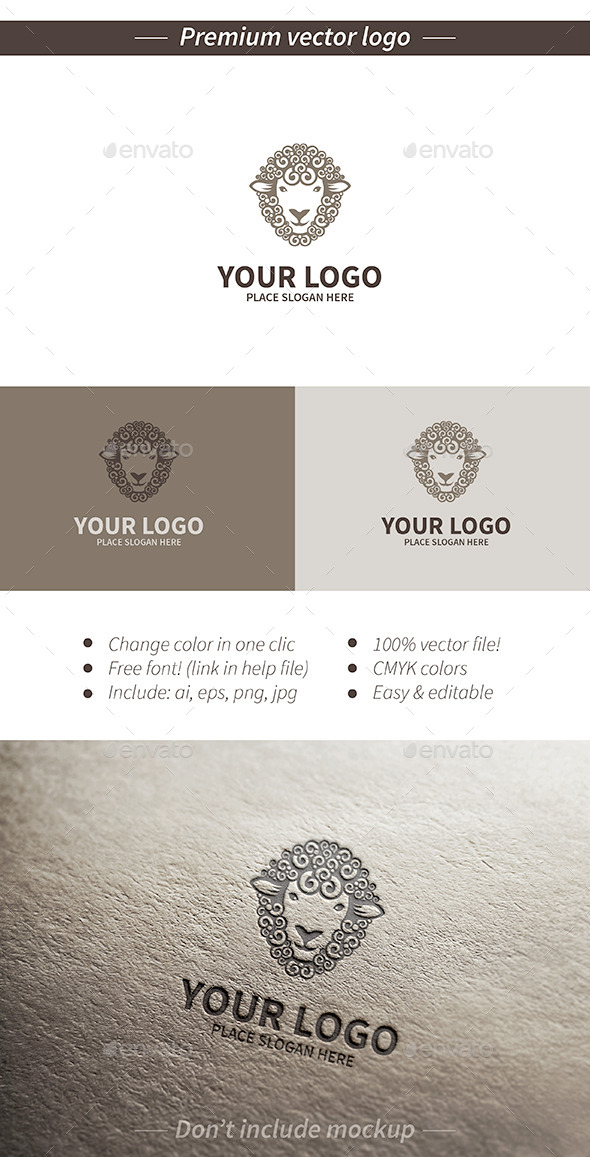 Sheep logo - Animals Logo Templates