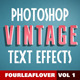 Retro PSD Text Effects vol.1  - GraphicRiver Item for Sale