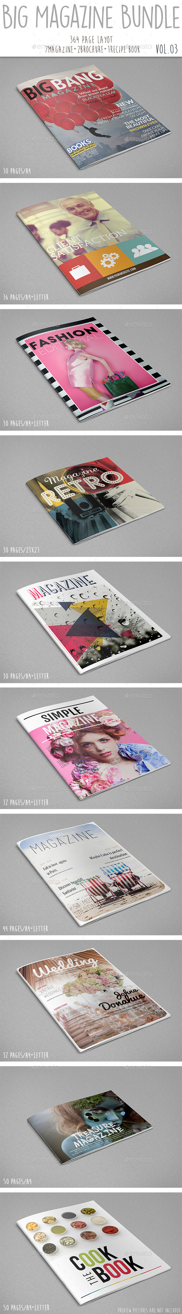 Big Magazine Bundle Vol.03 - Print Templates