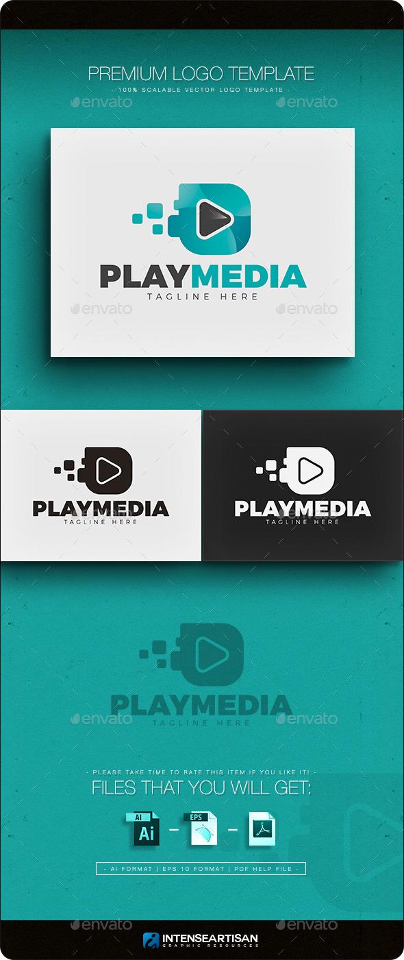 Play Media Logo - Objects Logo Templates