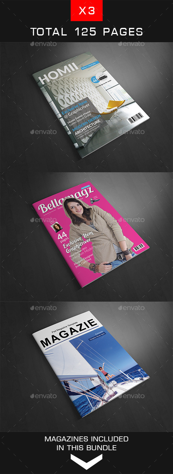 A4 Magazine Bundle Vol.4 - Magazines Print Templates