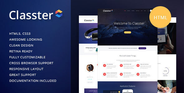 Classter | Multi-Purpose HTML Theme - Corporate Site Templates