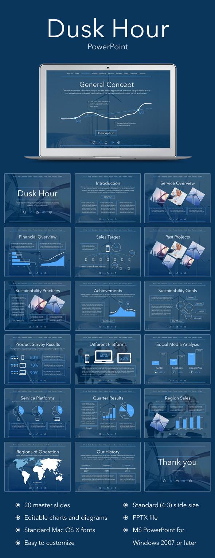 Dusk Hour PowerPoint Template - Creative PowerPoint Templates