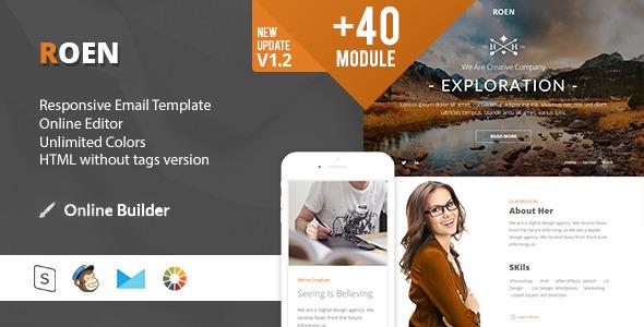 ROEN - Modern Email Template + Online Access