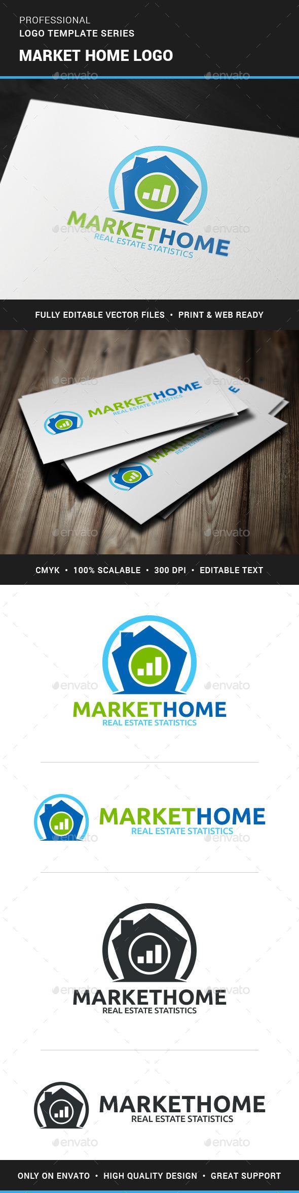 Marketing Home Logo Template - Buildings Logo Templates
