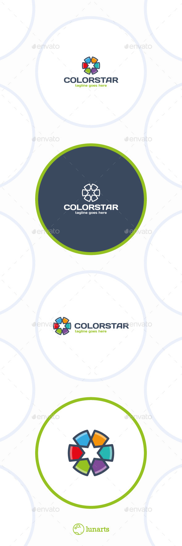 Color Star Line Logo - Symbols Logo Templates