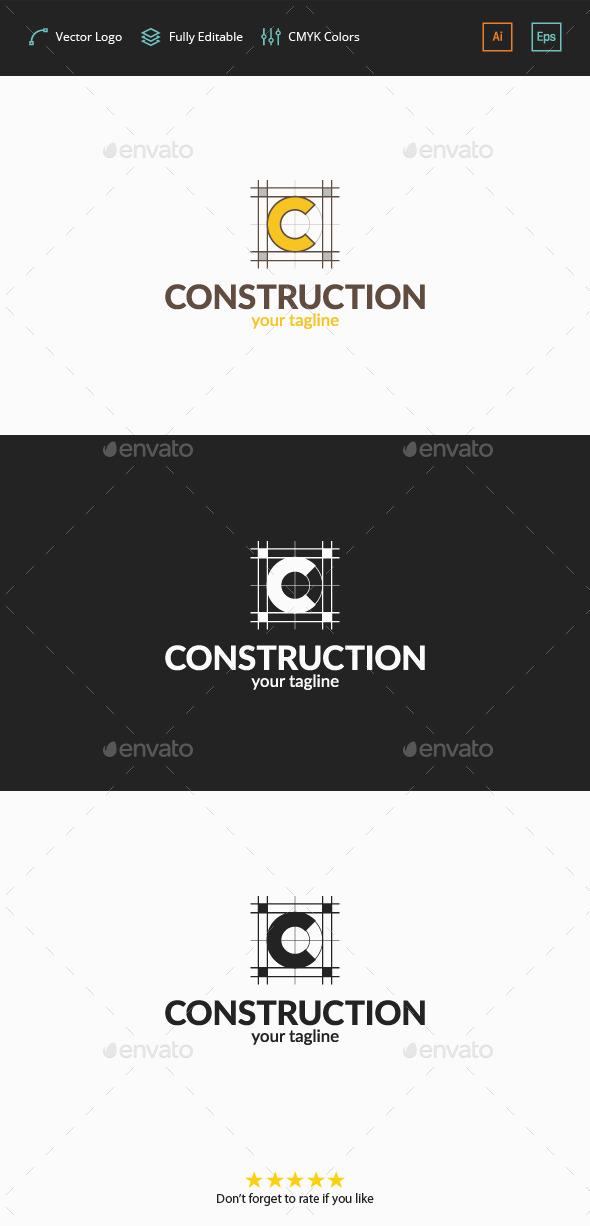 Construction Plan - C Logo - Letters Logo Templates