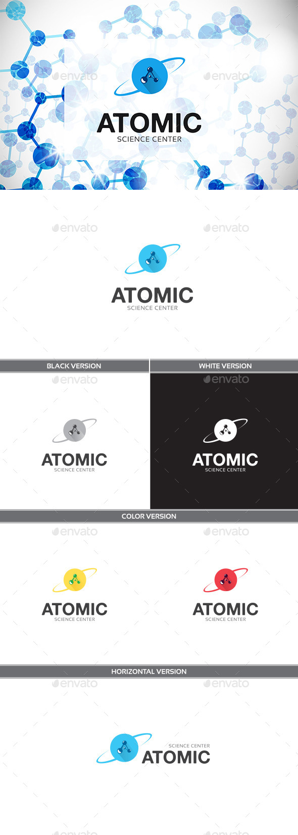 Atomic - Letters Logo Templates