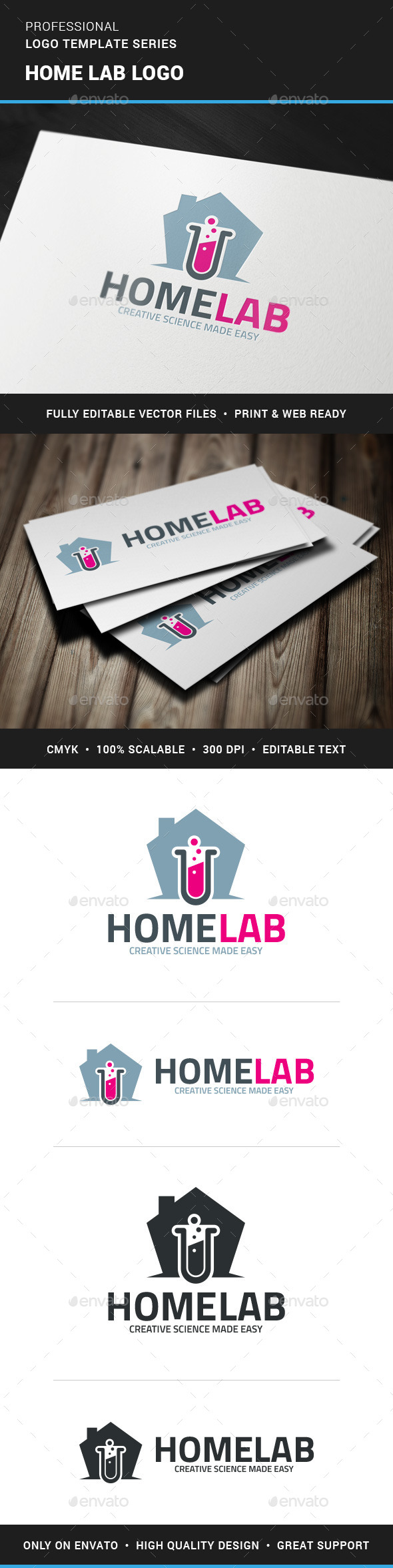 Home Lab Logo Template - Objects Logo Templates