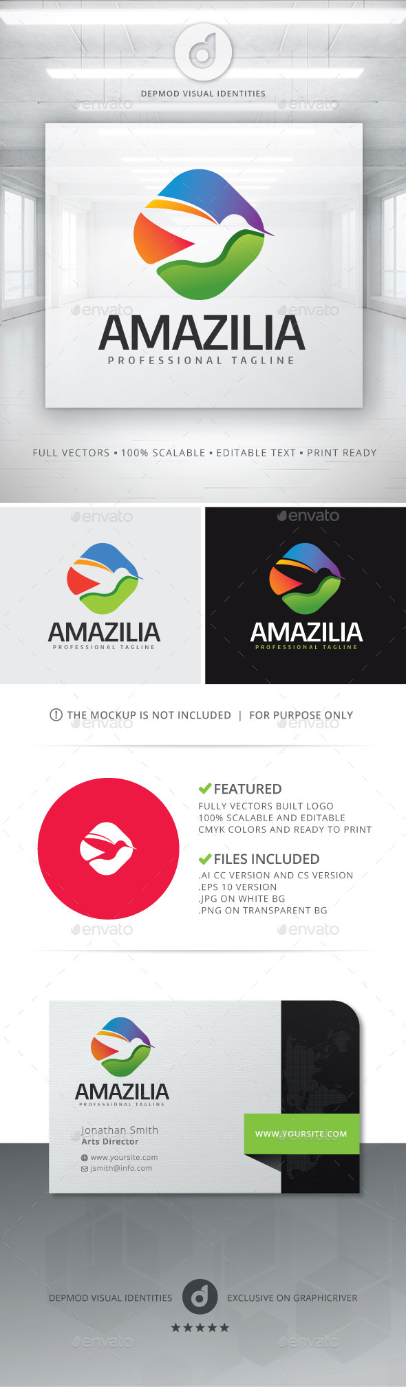 Amazilia Logo - Animals Logo Templates
