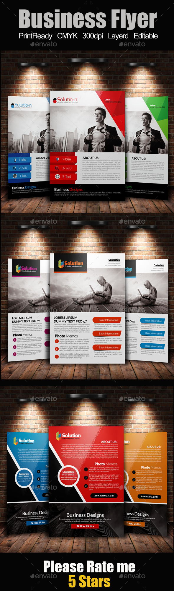 A4 Business Flyer Template Bunde - Corporate Flyers