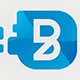 Blue Desk - Letter B Logo - GraphicRiver Item for Sale