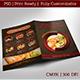 Seafood Restaurant - Food Menu / Bi-fold & Flyer Template - GraphicRiver Item for Sale