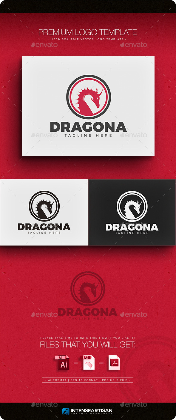 Dragon V.3 Logo - Animals Logo Templates