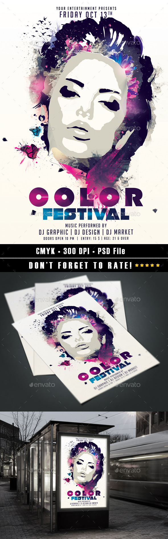 Color Festival v2 - Events Flyers