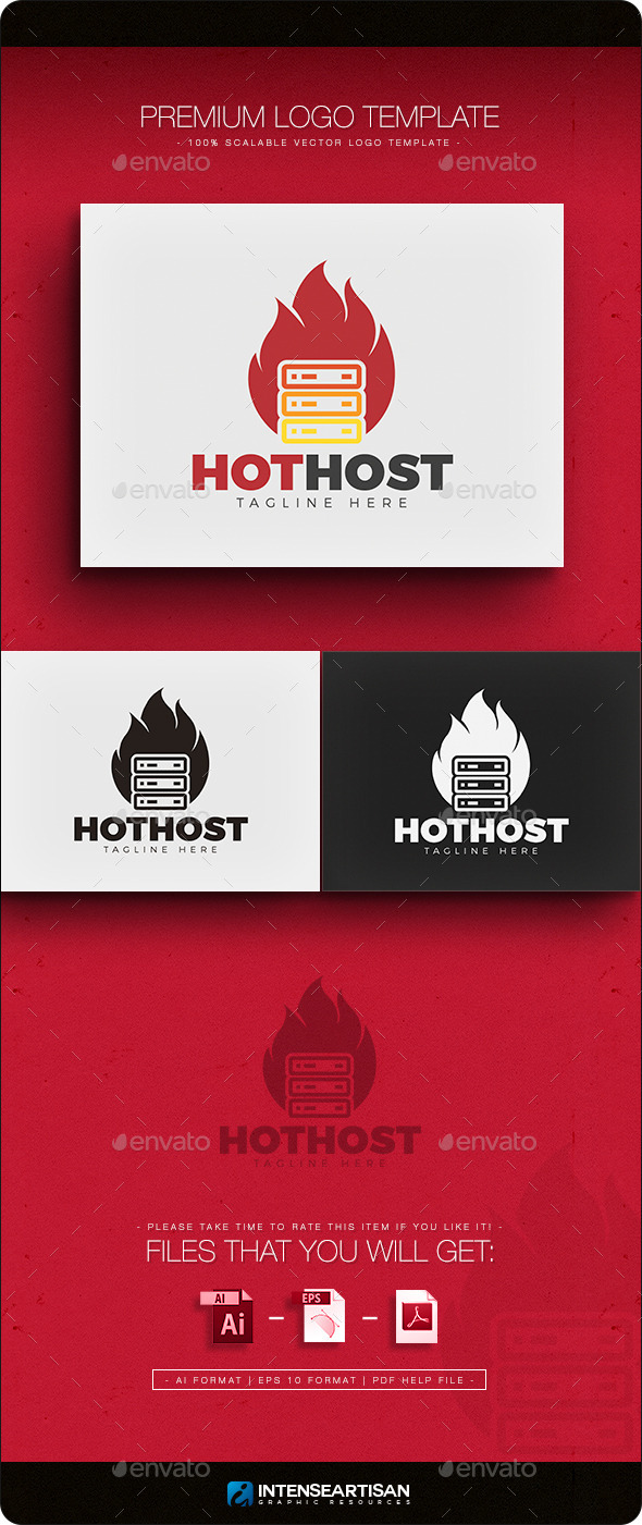 Hot Host Logo - Objects Logo Templates