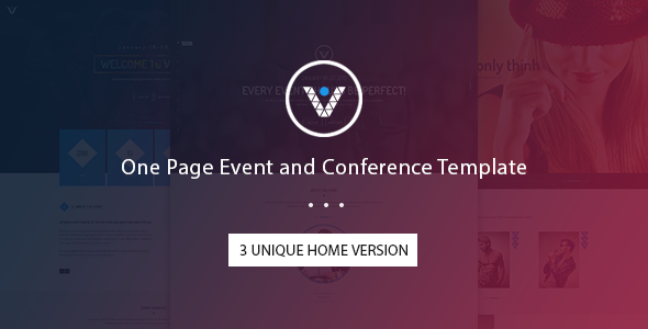 VnEvent – One Page Event and Conference Template