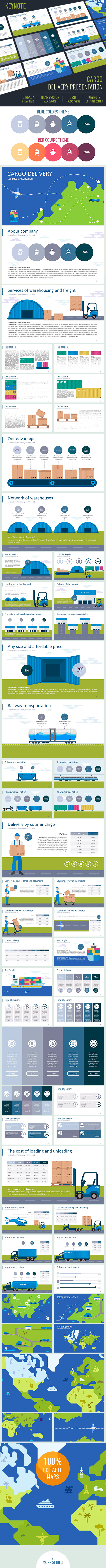 Cargo delivery Presentation - Business Keynote Templates