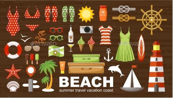 Summer Beach Set - Travel Conceptual