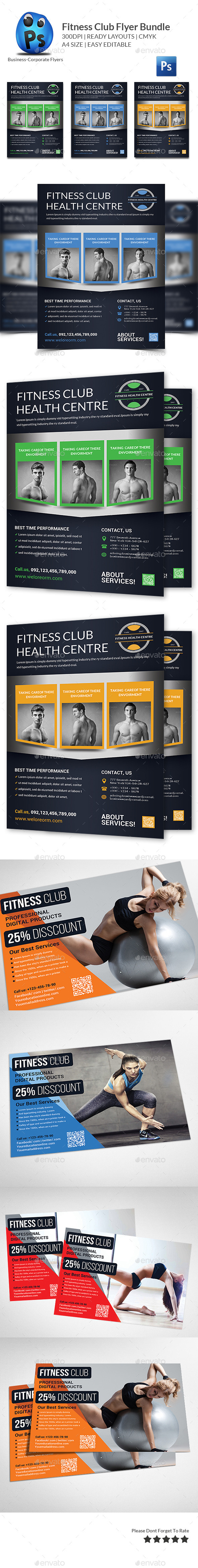 Health, Sports, Fitness Flyer Bundle - Corporate Flyers