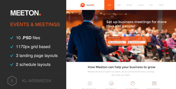 Meeton – Conference & Event PSD Template