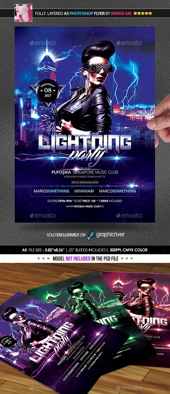 Lightning Party Poster/Flyer - Clubs & Parties Events