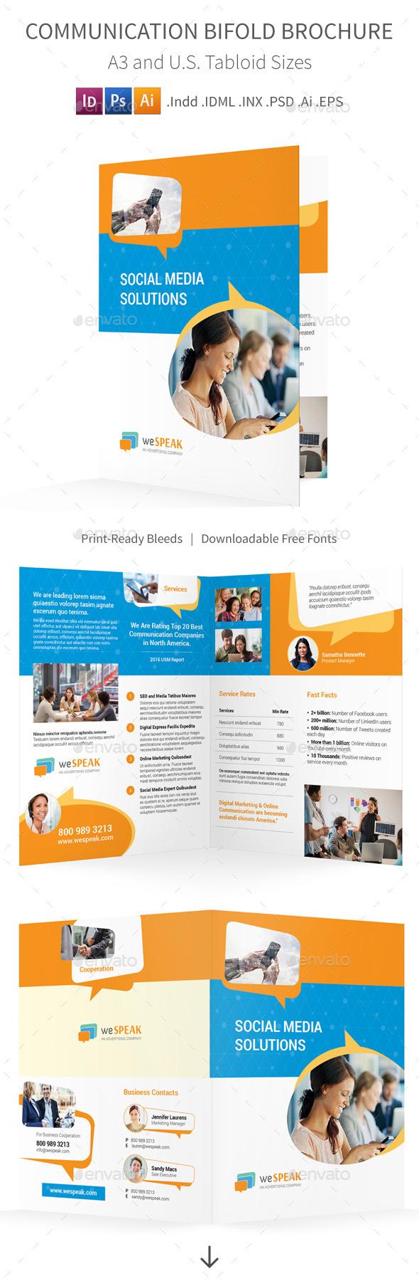Communication Bifold / Halffold Brochure - Informational Brochures