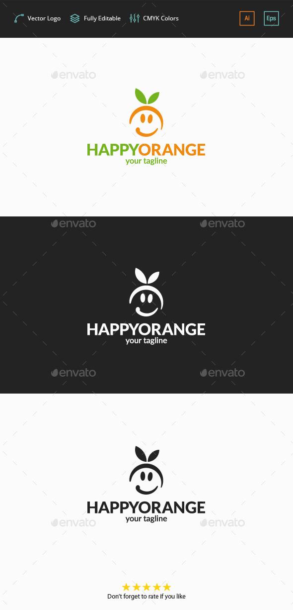 Happy Orange Logo - Food Logo Templates