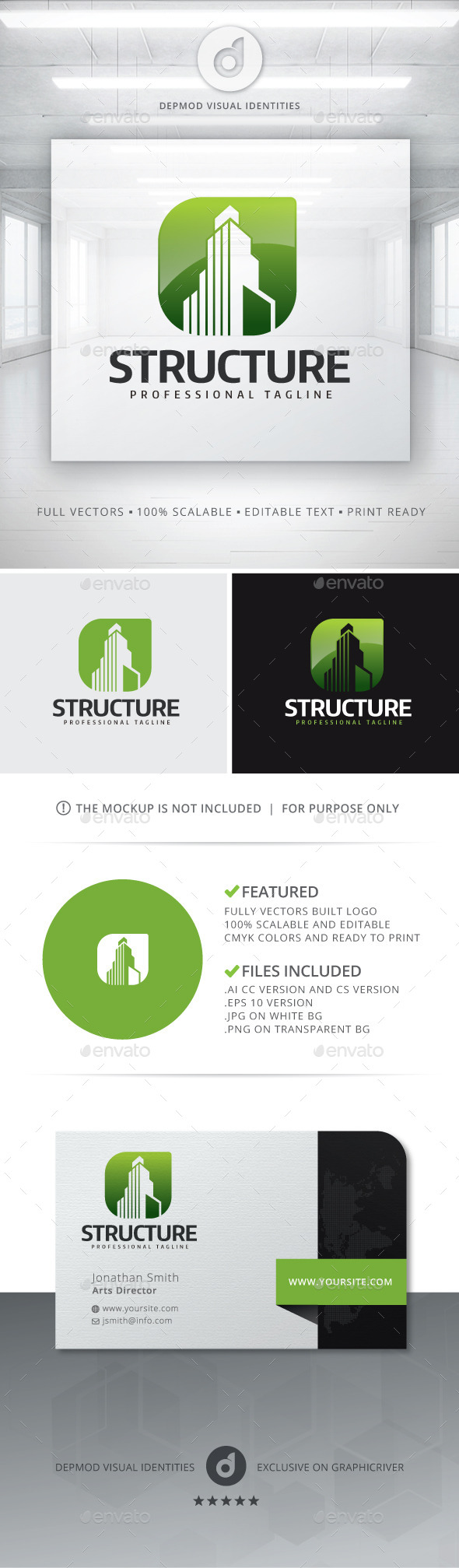 Structure Logo - Buildings Logo Templates