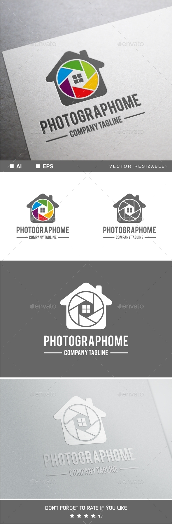 Photograph Home Logo - Objects Logo Templates