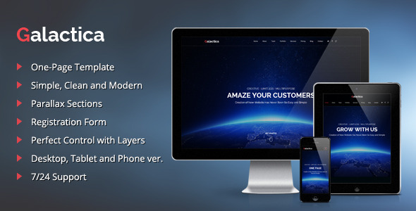 Galactica - Creative Multi-purpose Muse Template - Creative Muse Templates