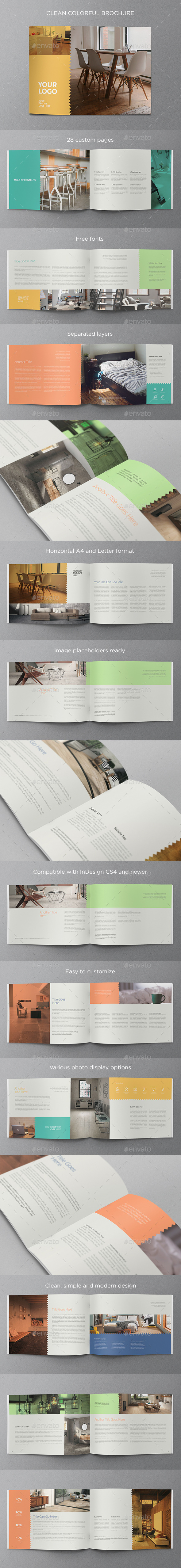Clean Colorful Brochure - Brochures Print Templates