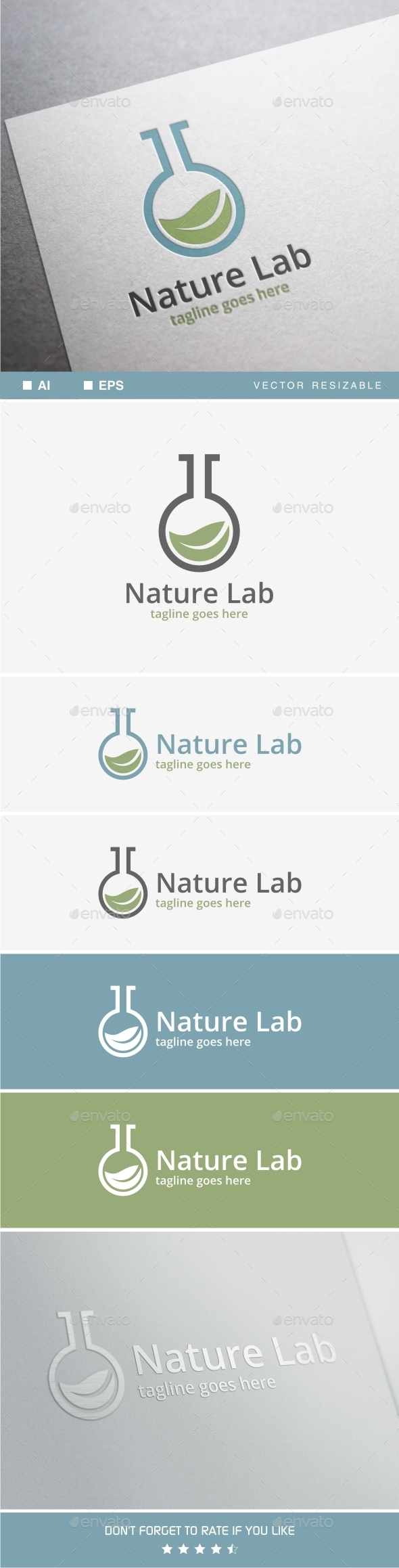 Nature Lab Logo - Objects Logo Templates