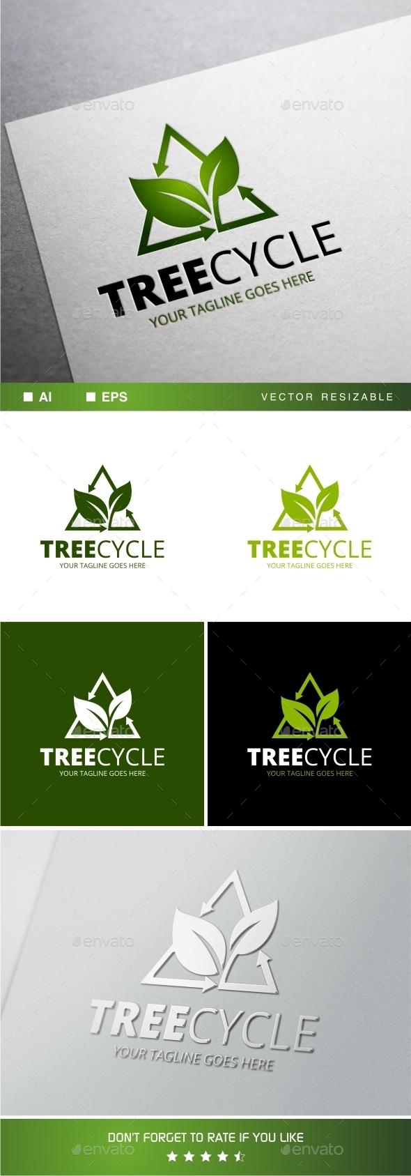 Treecycle Logo Template - Symbols Logo Templates
