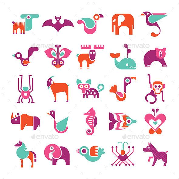 Animal Icon Set - Animals Characters