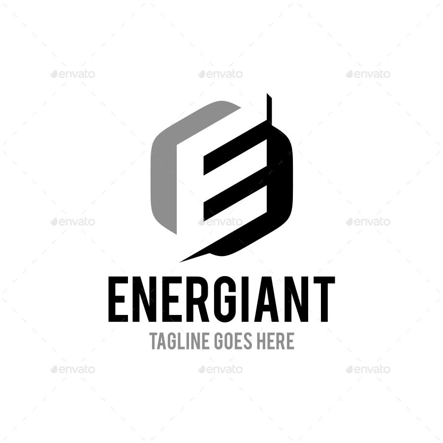 Energiant Letter E Logo Template By Soponyono Graphicriver