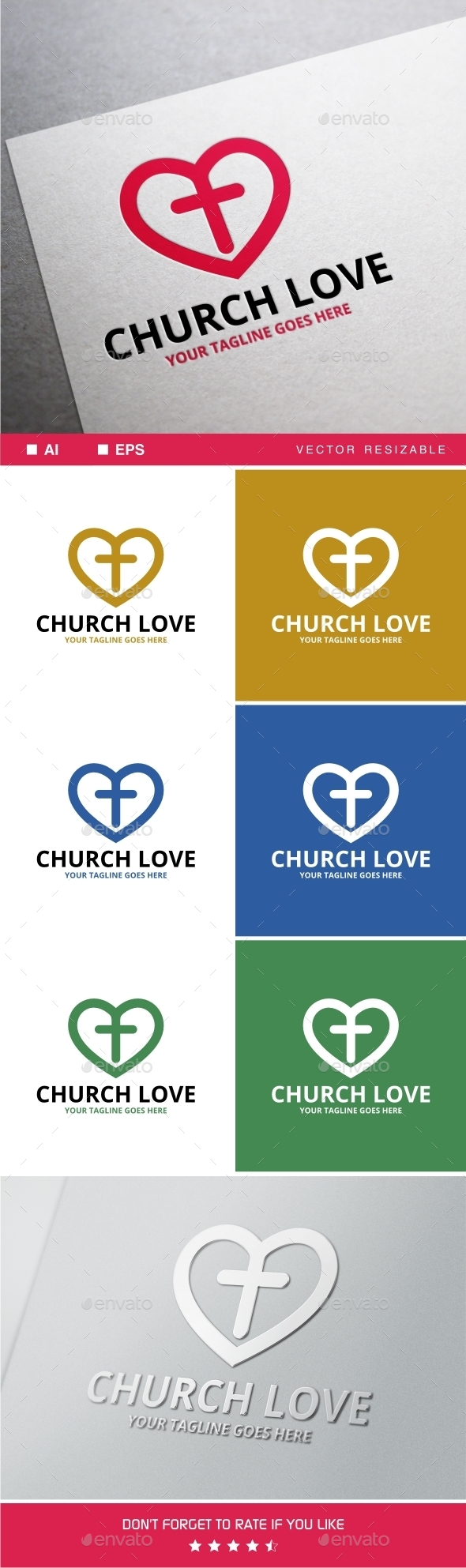 Church Love Logo - Symbols Logo Templates