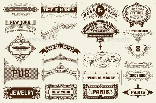 22 Labels and Banners - Backgrounds Decorative