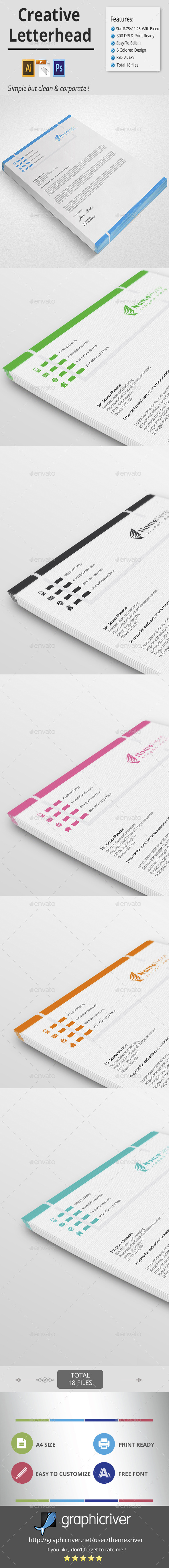 Creative Letterhead - Stationery Print Templates
