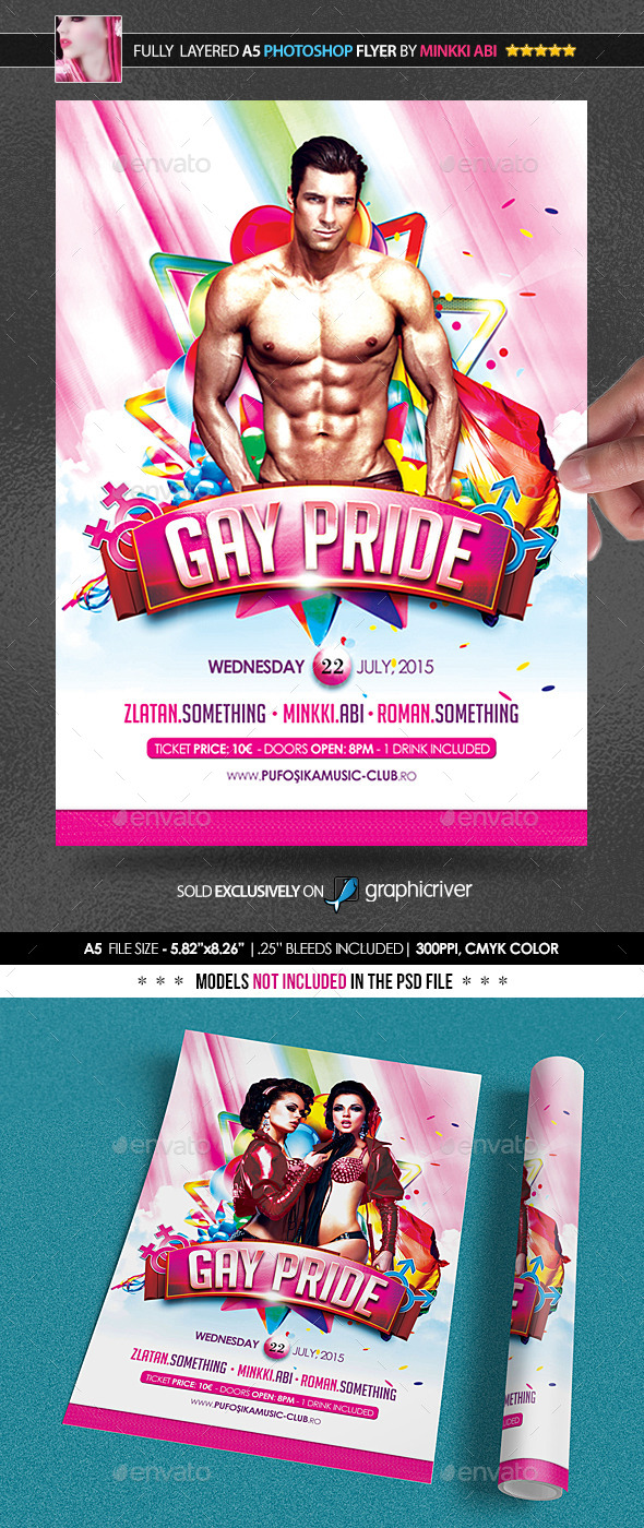 Gay Pride Poster/Flyer - Events Flyers